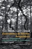 Libro: Especímenes de folclore bosquimano - Bleek, W.H.I y Lloyd, L.C.