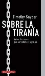 Libro: Sobre la tiranía - Snyder, Timothy