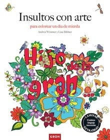 Libro: Insultos con arte 'Para colorear un día de mierda' - Wimmer, Andrea