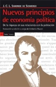 Libro: Nuevos principios de economía política 'De la riqueza en sus relaciones con la población' - Simonde De Sismondi, Jean Charles Léonard