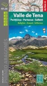 Libro: Mapa  VALLE DE TENA  Escala 1:25.000 'Panticosa   Partacua   Sallent' -