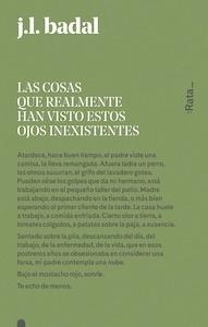 Libro: Las cosas que realmente han visto estos ojos inexistentes - Badal, Josep Lluís