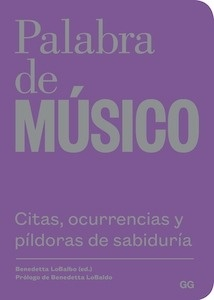 Libro: Palabra de músico -