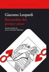 Libro: Recuerdos del primer amor - Leopardi, Giacomo