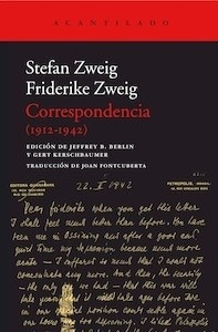 Libro: Correspondencia (1912-1942) - Zweig, Stefan