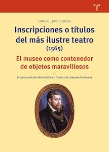 Libro: Inscripciones o títulos del más ilustre teatro (1565) - Quiccheberg (Alemán), Samuel