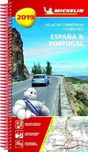 Libro: ESPAÑA & PORTUGAL  Atlas de carreteras y turístico  -2019- - Michelin